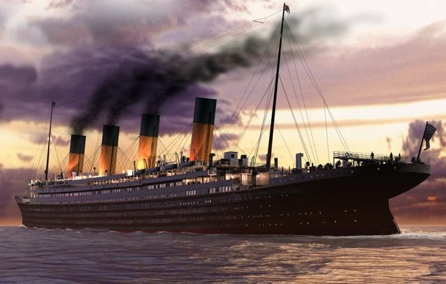 Titanic's Last Sunset